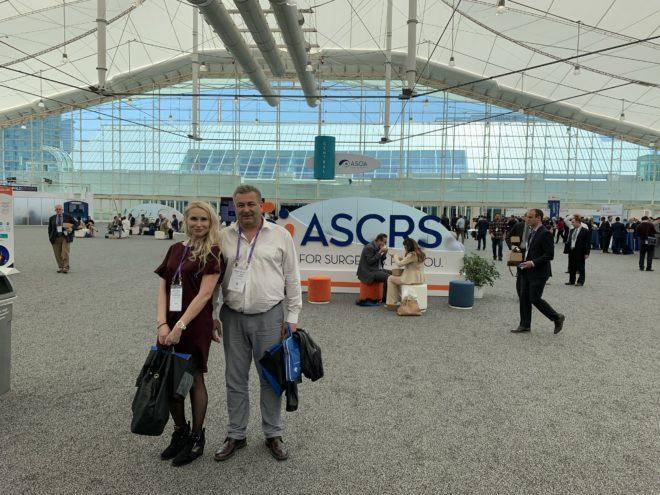 Dr. Alexander Rascheskov, Dr. Olesia Ziiatdinova, ASCRS Congress, San-Diego, California