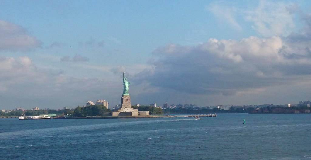 Статуя свободы вид с парома