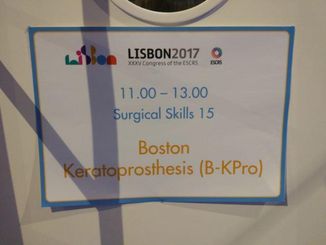 Boston K-Pro, Wetlab, ESCRS, Lisbon