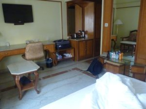 Our room in Raj Park Hotel