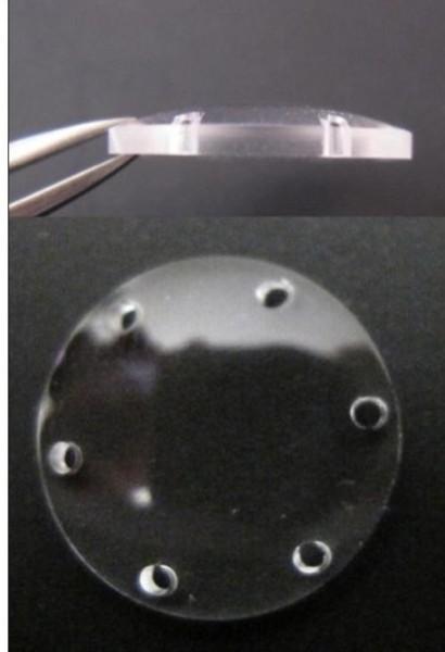 Пластиковый временный кератопротез